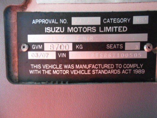 2007 Isuzu NQR450 ISUZU NQR450 2005 TRAY