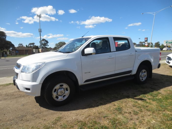 2013 HOLDEN COLORADO LX RG White