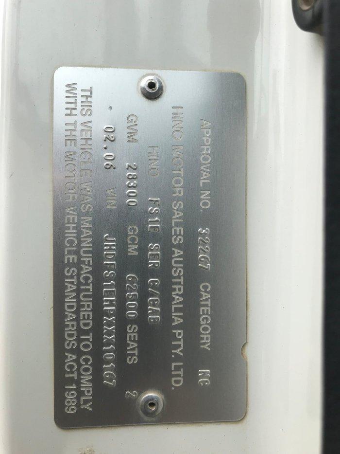 2008 Hino FS -700 Series FS 700 SERIES 2845 WHITE