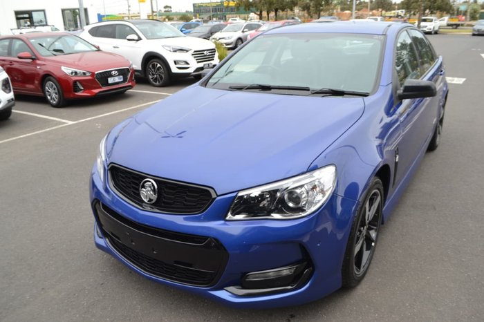 2016 HOLDEN COMMODORE SV6 Black VF Series II Blue