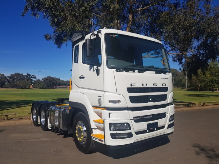 2018 FUSO 455HP PRIME MOVER 6X4 AMT / AIR SUSP. FV54SJR5VFAC null null White
