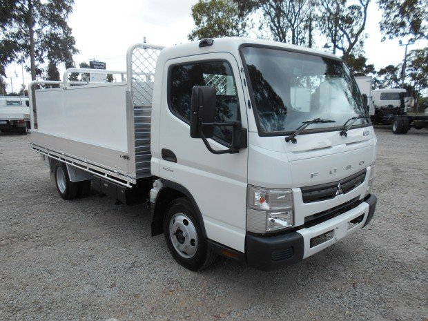 2014 Fuso Canter 515 Wide ALLOY TRAY WITH TOOLBOXES WHITE