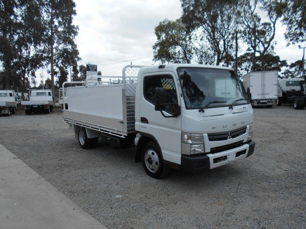 2015 Fuso Canter 515 Wide ALLOY TRAY WITH TOOLBOXES WHITE