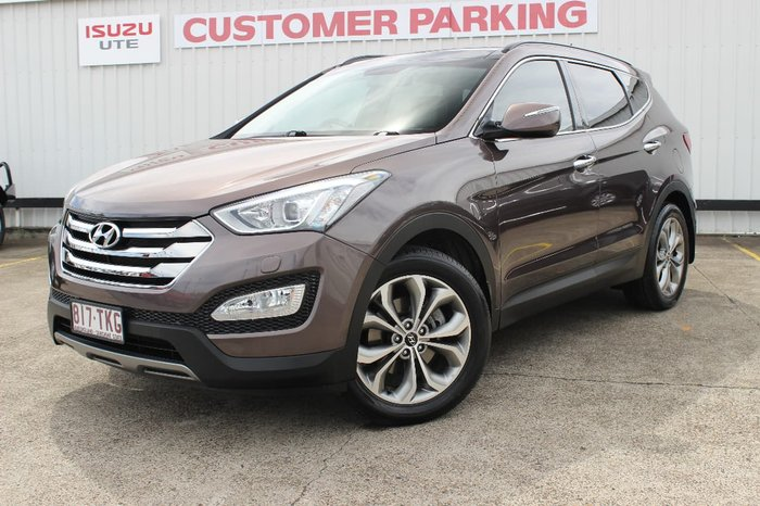 2013 Hyundai Santa Fe Highlander DM MY14 4X4 On Demand Brown