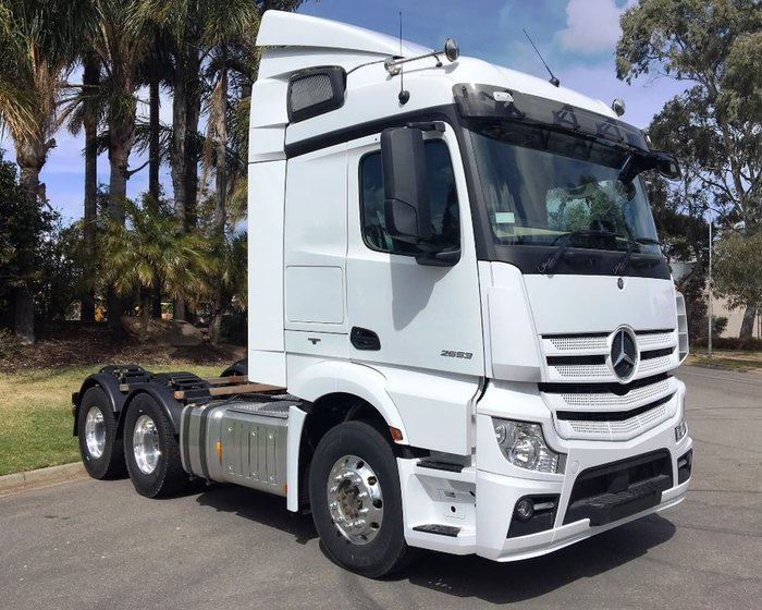 2018 MERCEDES-BENZ ACTROS 2653 2.3M STREAMSPACE null null White