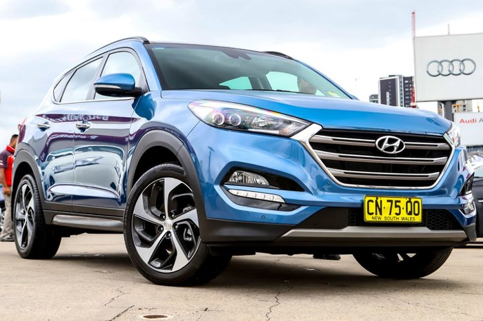 2017 Hyundai Tucson Highlander TLe MY17 4X4 On Demand Blue
