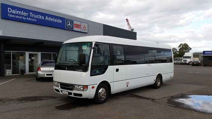 2018 FUSO ROSA DELUXE AUTO 25 SEAT MINI COACH AUST#1 FOR 12 YEARS null null WHITE