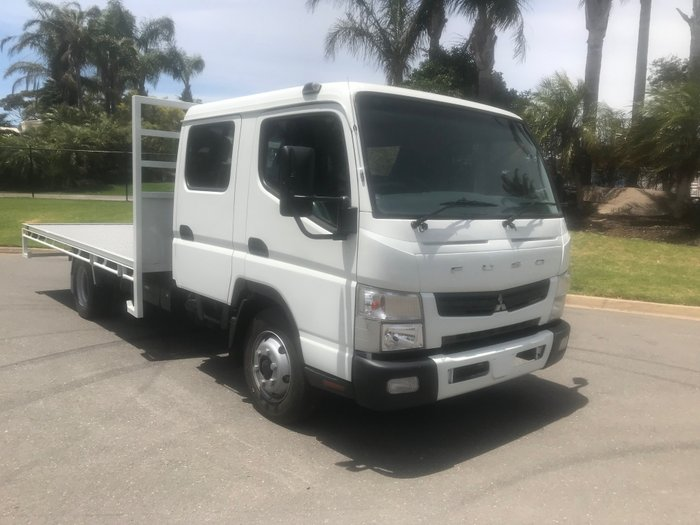2011 Fuso Canter 918 Wide Dual cab tray top White
