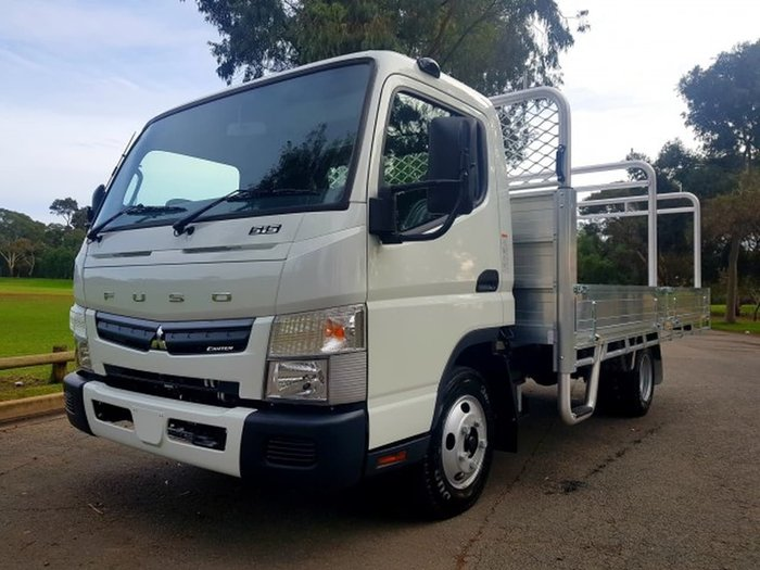 2018 FUSO CANTER 515 MAN - ALLY TRAY & RACKS CAR LICENCE READY TO GO null null White