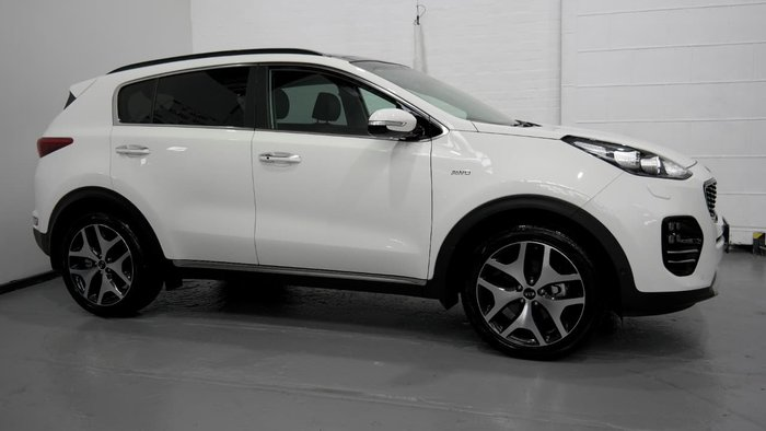 2018 Kia Sportage GT-Line QL MY18 4X4 On Demand White