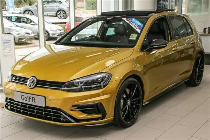 2018 Volkswagen Golf R Special Edition 7.5 MY19 Yellow