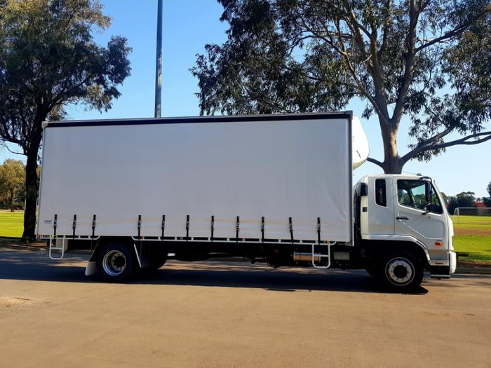 2018 FUSO FIGHTER 1627 AUTO 12 PALLET TAUTLINER null null WHITE