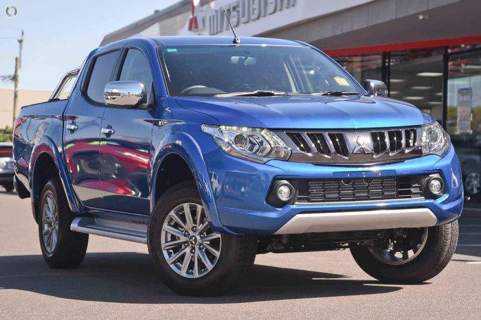 2018 Mitsubishi Triton GLS MQ MY18 4X4 Dual Range Blue