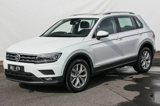 2018 Volkswagen Tiguan 132TSI Comfortline 5N MY19 Four Wheel Drive PURE WHITE