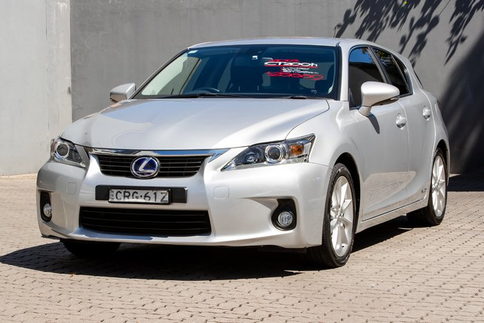 2013 Lexus CT CT200h Luxury ZWA10R MY13 PLATINUM SILVER