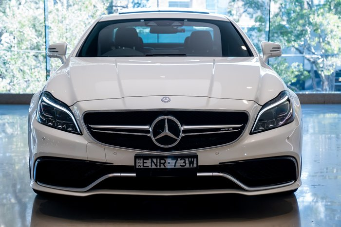 2015 Mercedes-Benz CLS-Class CLS63 AMG S C218 WHITE