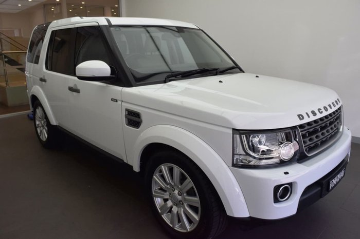 2015 Land Rover Discovery TDV6 Series 4 MY16 4X4 Dual Range White