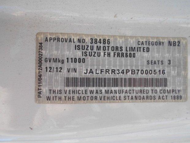 2012 Isuzu FRR600 FRR600 PANTECH