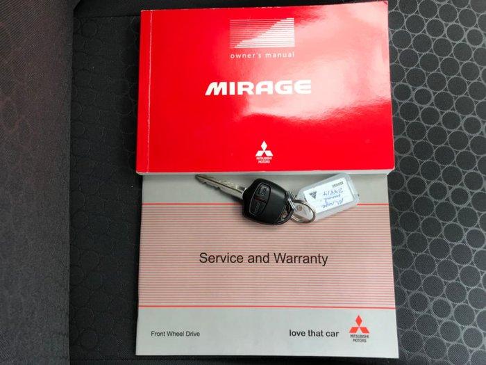 2013 Mitsubishi Mirage LS LA MY14 White