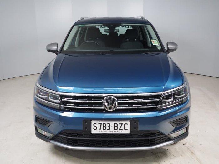 2018 Volkswagen Tiguan 132TSI Comfortline Allspace 5N MY19 Four Wheel Drive Blue