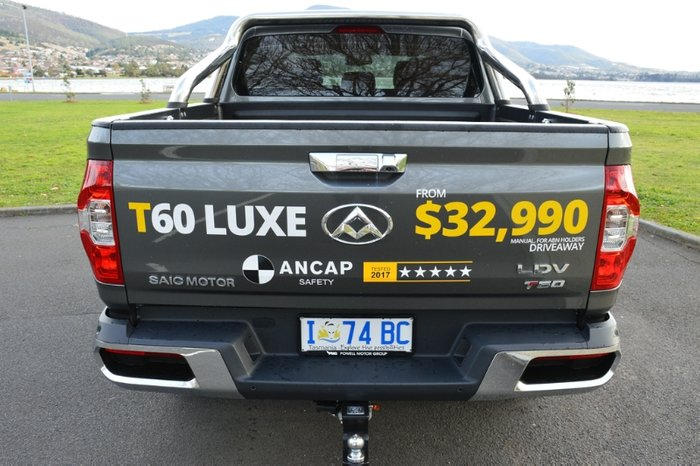 2018 LDV T60 LUXE SK8C 4X4 Dual Range GREY