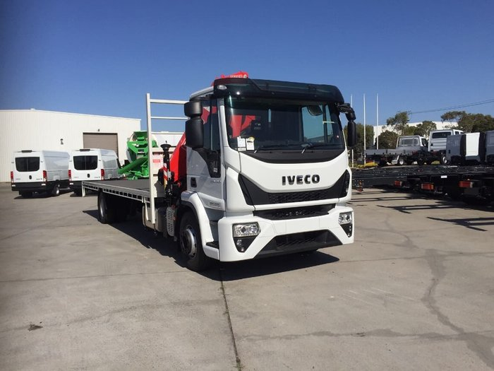 2018 IVECO EUROCARGO ML160E28 TRAY & CRANE READY TO WORK. null null White