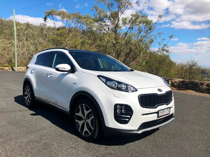 2017 KIA SPORTAGE GT-LINE GREY LEATHER (AWD) QL MY17 WHITE