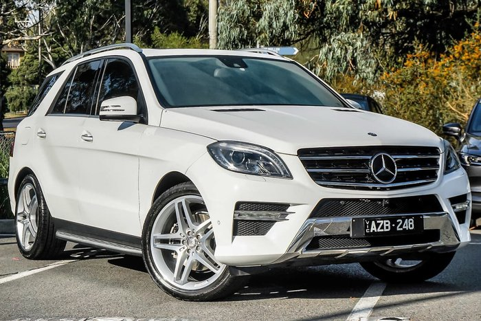 2015 Mercedes-Benz ML350 BlueTEC W166 MY15 4X4 Constant White