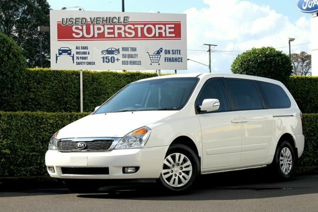 2013 Kia Grand Carnival S VQ MY13 WHITE
