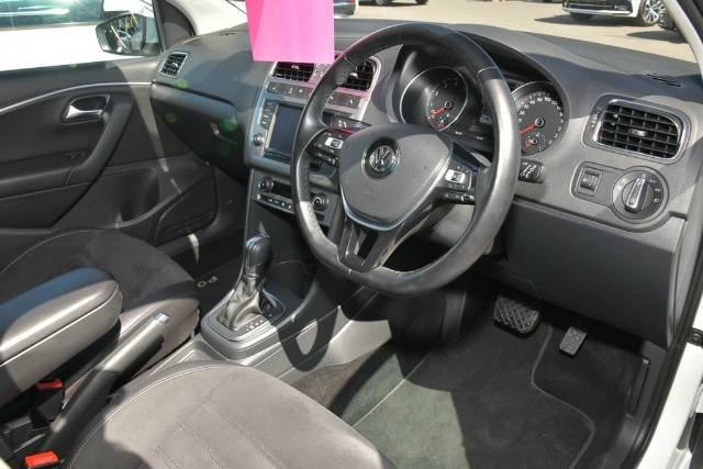 2017 Volkswagen Polo 81TSI Urban+ 6R MY17.5 PURE WHITE