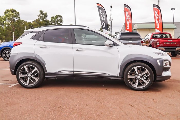 2018 Hyundai Kona Highlander OS.2 MY19 4X4 On Demand White