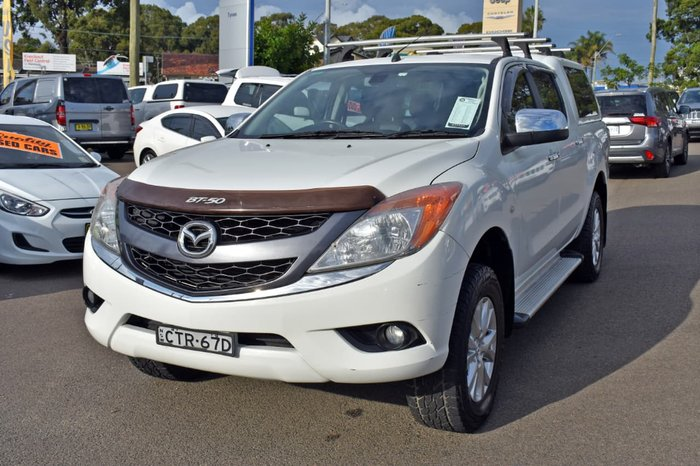 2013 Mazda BT-50 GT UP 4X4 Dual Range White