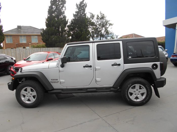 2012 Jeep Wrangler Unlimited Sport JK MY12 4X4 Silver