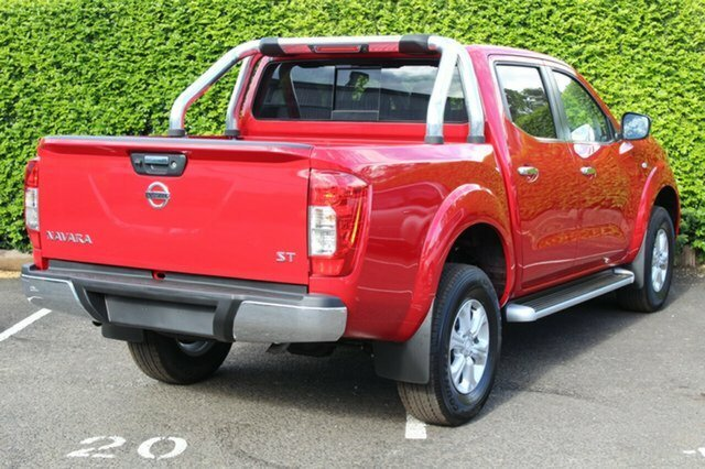 2018 Nissan Navara ST D23 Series 3 4X4 Dual Range BURNING RED