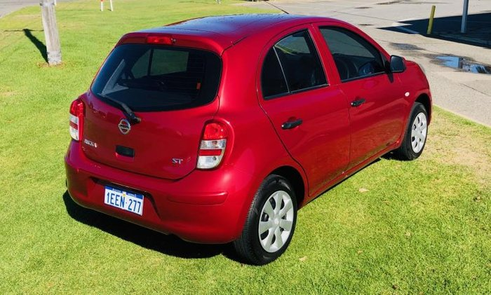 2013 NISSAN MICRA ST K13 MY13 RED