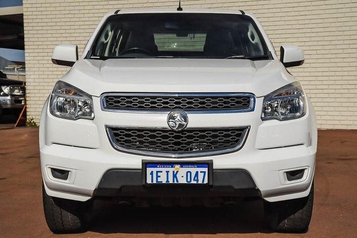 2013 Holden Colorado LX RG MY13 4X4 Dual Range White