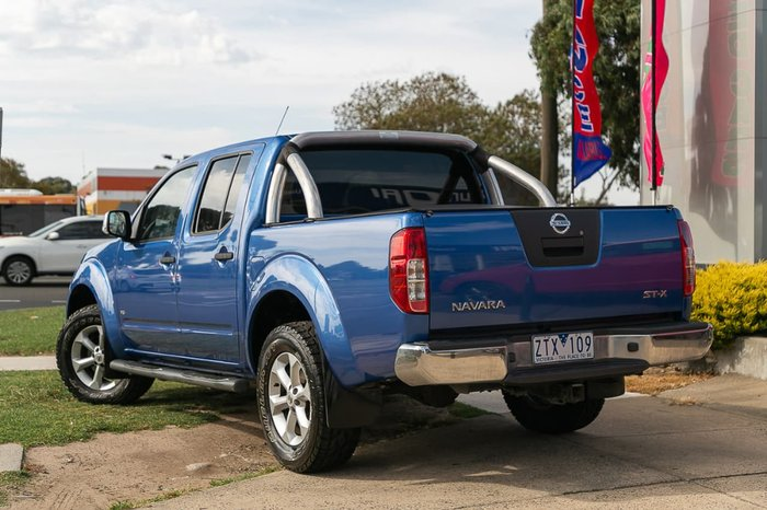 2012 Nissan Navara ST-X D40 Series 5 4X4 Blue
