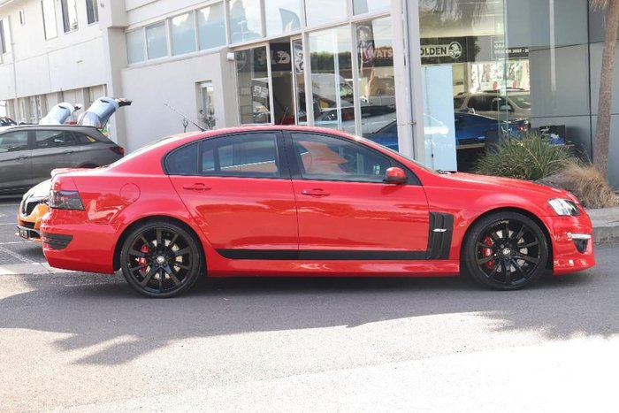 2011 Holden Special Vehicles Clubsport R8 SV Black Edition E Series 3 Red