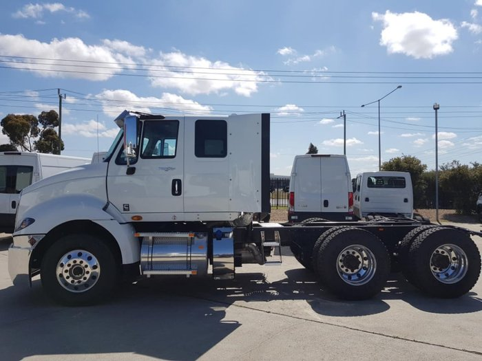 2019 INTERNATIONAL PROSTAR EXTENDED CAB AMT null null white