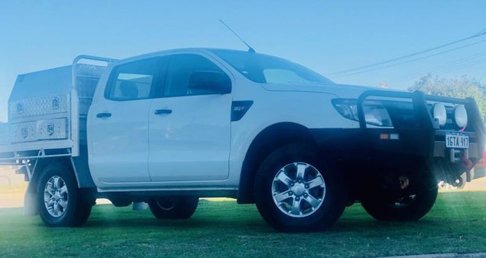 2014 FORD RANGER XL 3.2 (4x4) PX WHITE