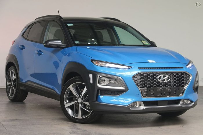 2018 Hyundai Kona Highlander OS MY18 4X4 On Demand Blue