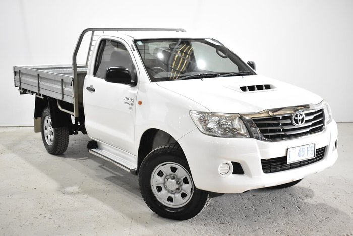 2012 Toyota Hilux Workmate KUN26R MY12 4X4 White