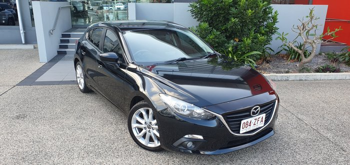 2015 MAZDA 3 BM548 SP25 Hatch 5dr SKYACTIV-Drive 6sp 2.5i BLACK
