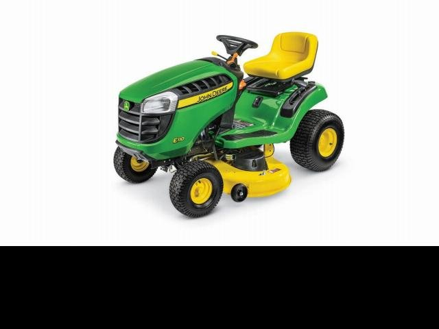 John Deere Mowers E110 Ride On Mower - New Green
