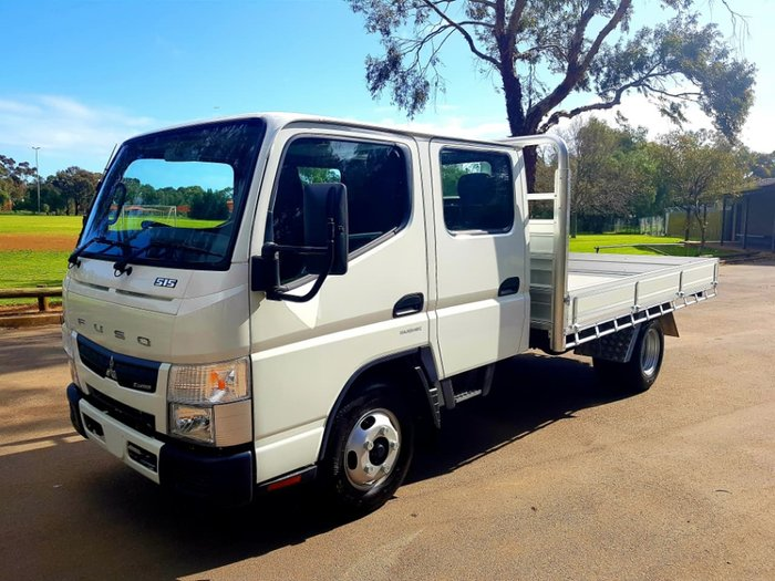 "2018 FUSO CANTER 515 TWIN CAB AUTO 6 SEAT ""READY TO GO"" CAR LICENCE null null WHITE"