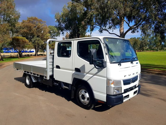 """2018 FUSO CANTER 515 TWIN CAB AUTO 6 SEAT """"READY TO GO"""" CAR LICENCE null null WHITE"""