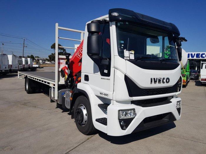 2021 IVECO EUROCARGO ML160E28 TRAY & CRANE White