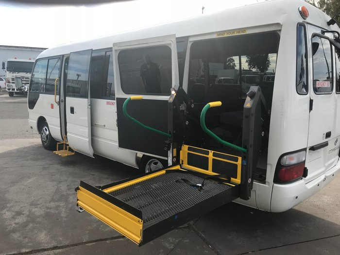2012 Toyota COASTER coaster deluxe, wheel chair WHITE