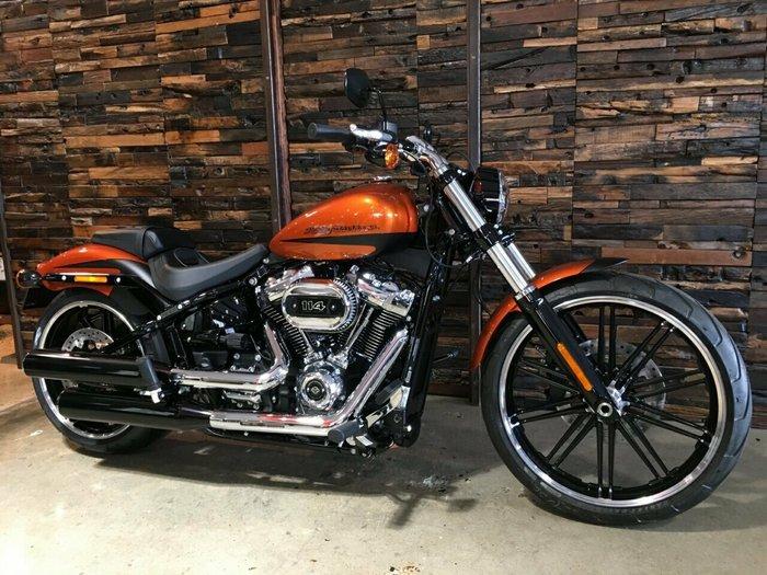 2019 Harley-Davidson FXBRS BREAKOUT S (114) CUST TT Scorched Orange / Black Denim