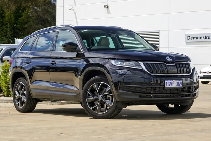2019 Skoda Kodiaq 4x4 132TSI 2.0L T/P 7Spd DSG Wagon MY19 4WD Magic Black Pearl